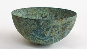 Patinated Bowl - 'Making it Yours – Metal' Crafts Council, London.