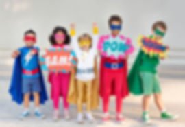 Children dressed up as superheroes