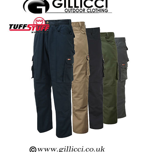 Mens Tuff Stuff Pro Work Workwear Trousers with Knee Pad Pockets And Knee Pads