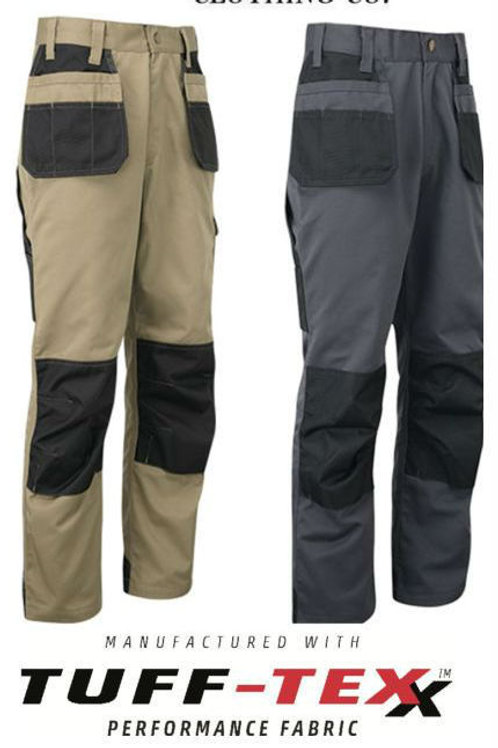 Mens Tuff Stuff Workwear Safety Tough Work Trousers with Knee Pad Pockets 710