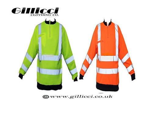 HI HIGH VIZ VIS VISIBILITY REFLECTIVE WORKWEAR SAFETY JUMPER SWEATSHIRT PULLOVER