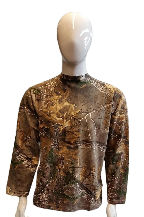 MENS WOMENS LONG SLEEVE FULL LENGTH ARMS CAMOUFLAGE JUNGLE PRINT JUMPER T SHIRT