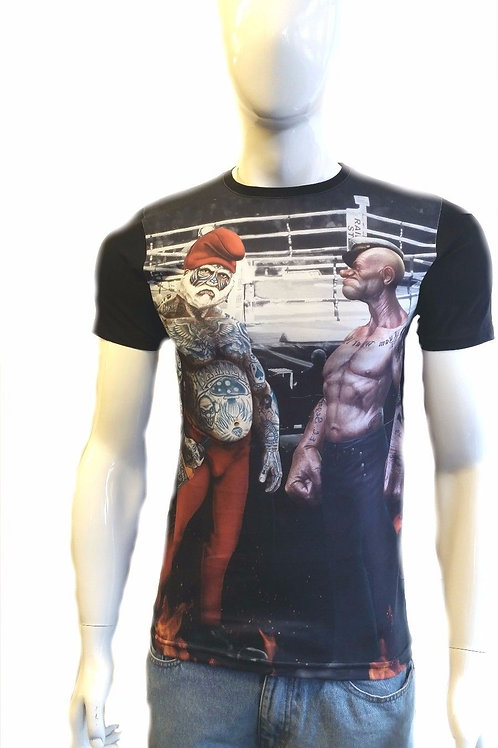 MENS FASHION PRINTED 3D SMURFS JACK DANIELS POPEYE IMAGE THE SAILOR MAN