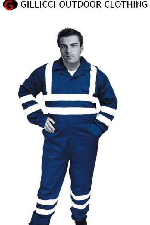 SUPERIOR HEAVYWEIGHT ZIP FRONT HI HIGH VIZ VISIBILIITY VIS COVERALL BOILER SUIT