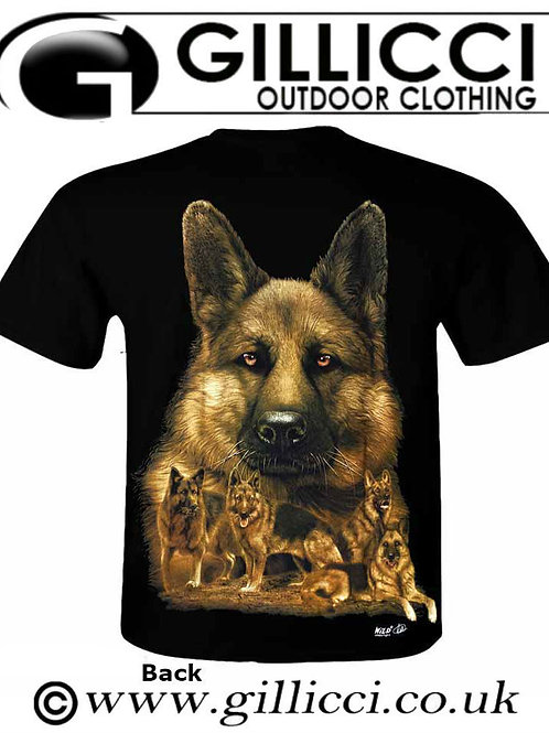 Mens Women German Shepherd Alsatian 3D Large Dog Animal Printed Wild T-shirt Top