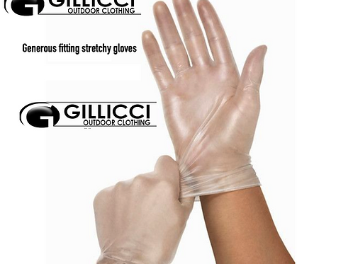 Disposable PPE HypoAllergenic Medical Latex Free Clear Anti Virus Bac Gloves