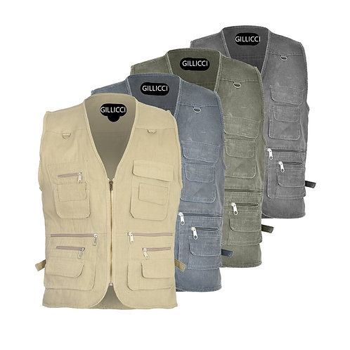 New Mens Quality Waistcoat Safari Gilet Jacket Fishing Hunting Hiking 12 pockets