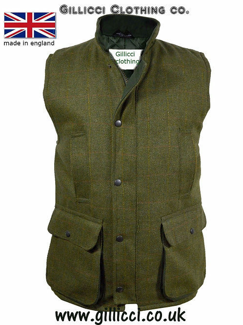 MENS DERBY TWEED SHOOTING WAISTCOAT GILET BODYWARMER