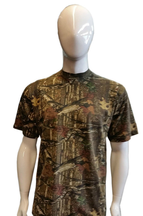 MENS WOMENS SHORT SLEEVE CREW NECK CAMOUFLAGE JUNGLE WILD COTTON PRINT T SHIRT