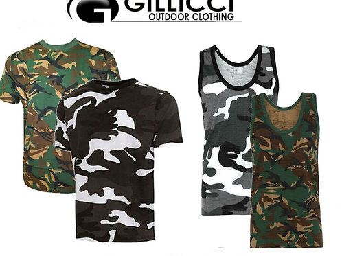MENS SUMMER GYM WORKOUT CAMO CAMOFLAUGE ARMY SHORT SLEEVE T-SHIRT VEST TANK TOP