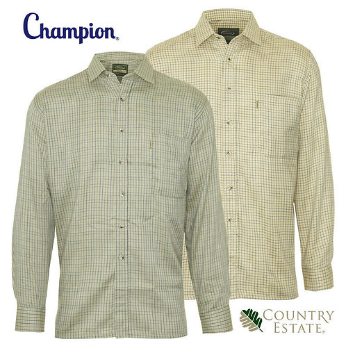 NEW MENS LONG SLEEVE CHAMPION CARTMEL CASUAL HUNTING OUTDOOR COTTON HEAVY SHIRT