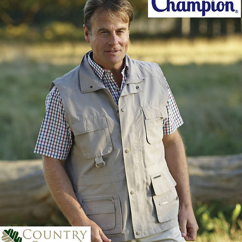 MEN'S CHAMPION CASUAL FISHING HUNTING WINDERMERE POLYESTER MICROFIBRE WAISTCOAT