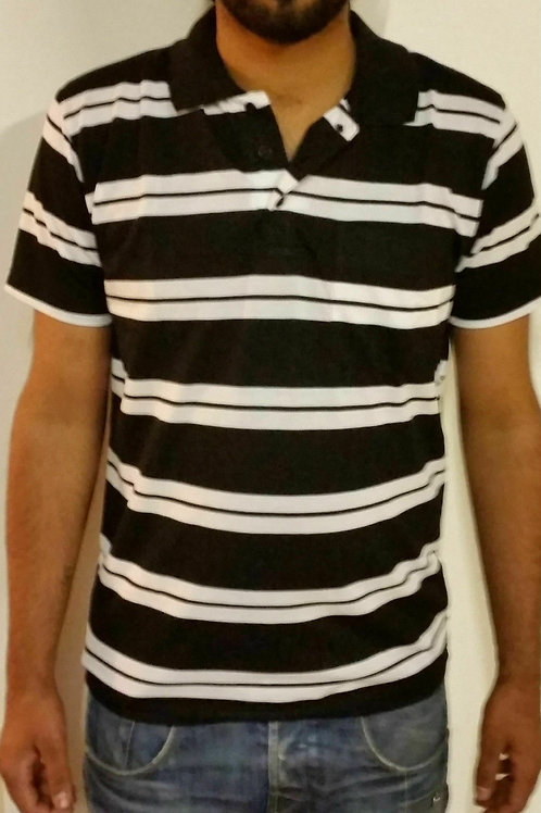 MENS GILLICCI SUMMER CASUAL STRIPED FASHION BRANDED COTTON POLO SHIRT T SHIRT