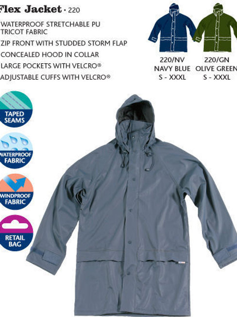 NEW MENS WOMENS BREATHABLE NAVY AIR FLEX NON SWEAT 100% WATER PROOF JACKET COAT