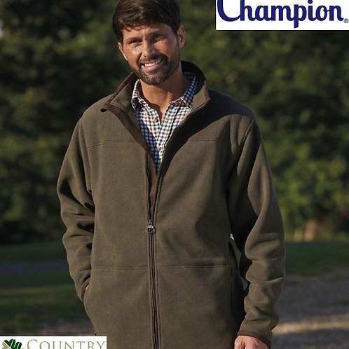 Champion Men's Country Estate Berwick Style Fleece Jacket With Faux Suede Trim