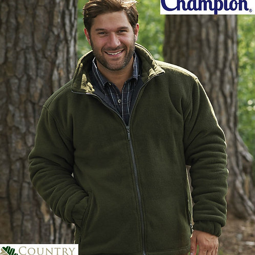 CHAMPION ANTIPIL QUILTED PADDED THICK WARM GLEN FLEECE JACKET COAT