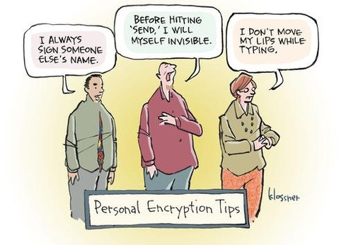 Personal Encryption Tips - Klossner comic