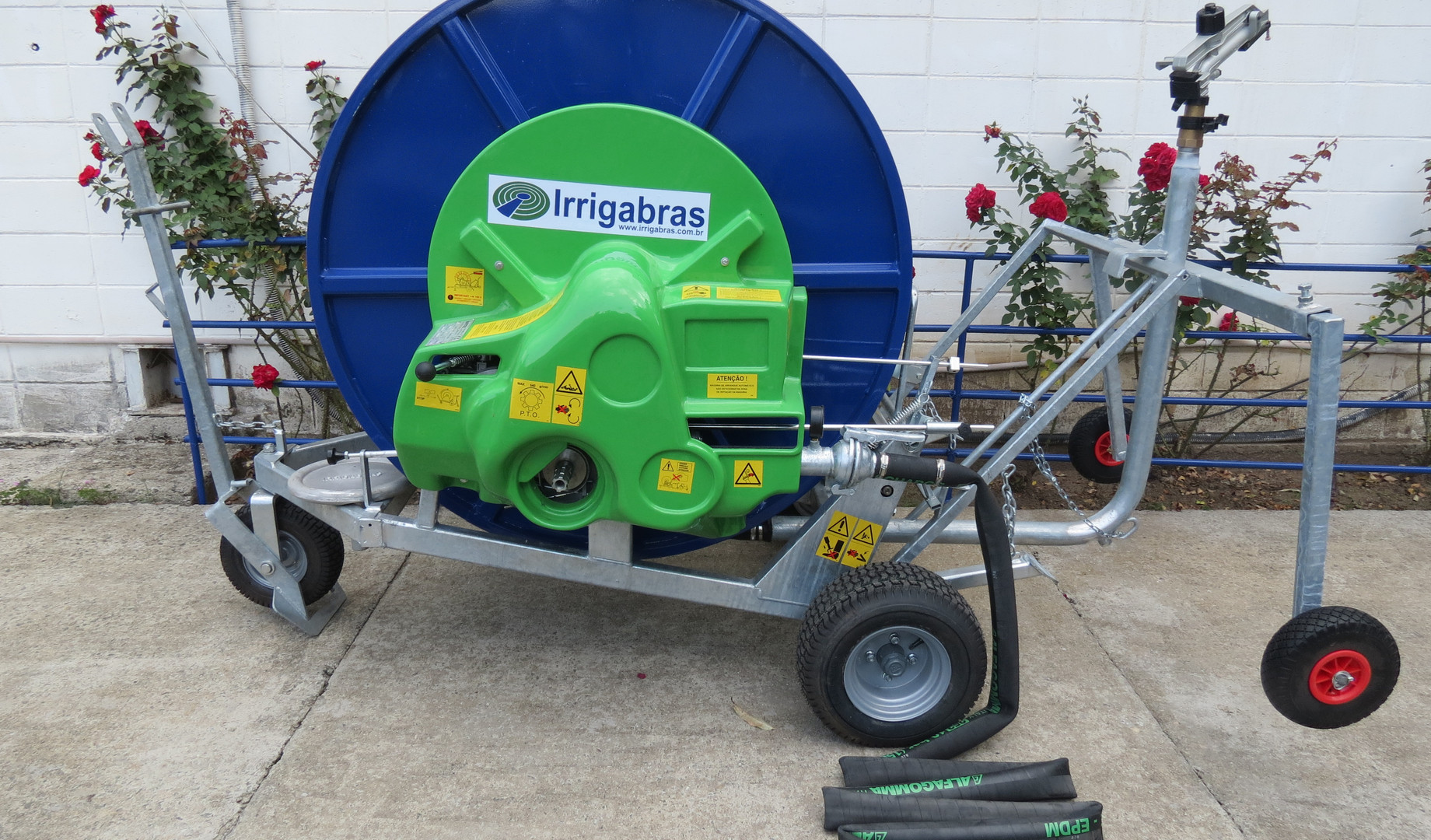 carretel de irrigacao irrigabas rolao enrolador