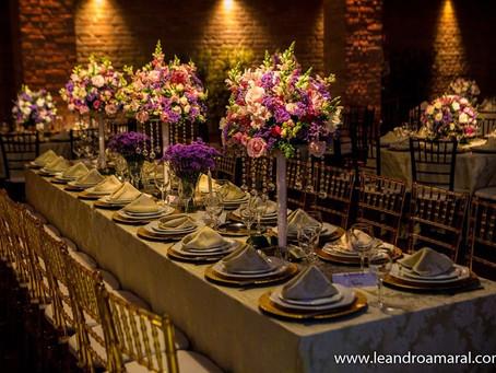 Como organizar as mesas para a sua festa de casamento.