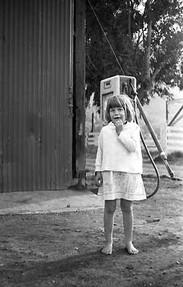 Girl at Gas Pump