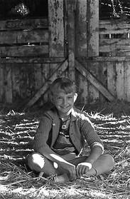 Girl in Hay Barn