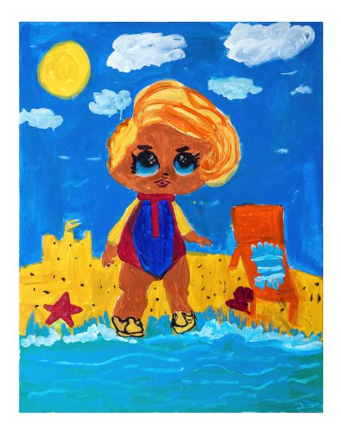Weekend on the beach, acrylic on canvas, 70×90