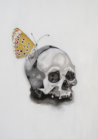 SKULL WITH BATTERFLY