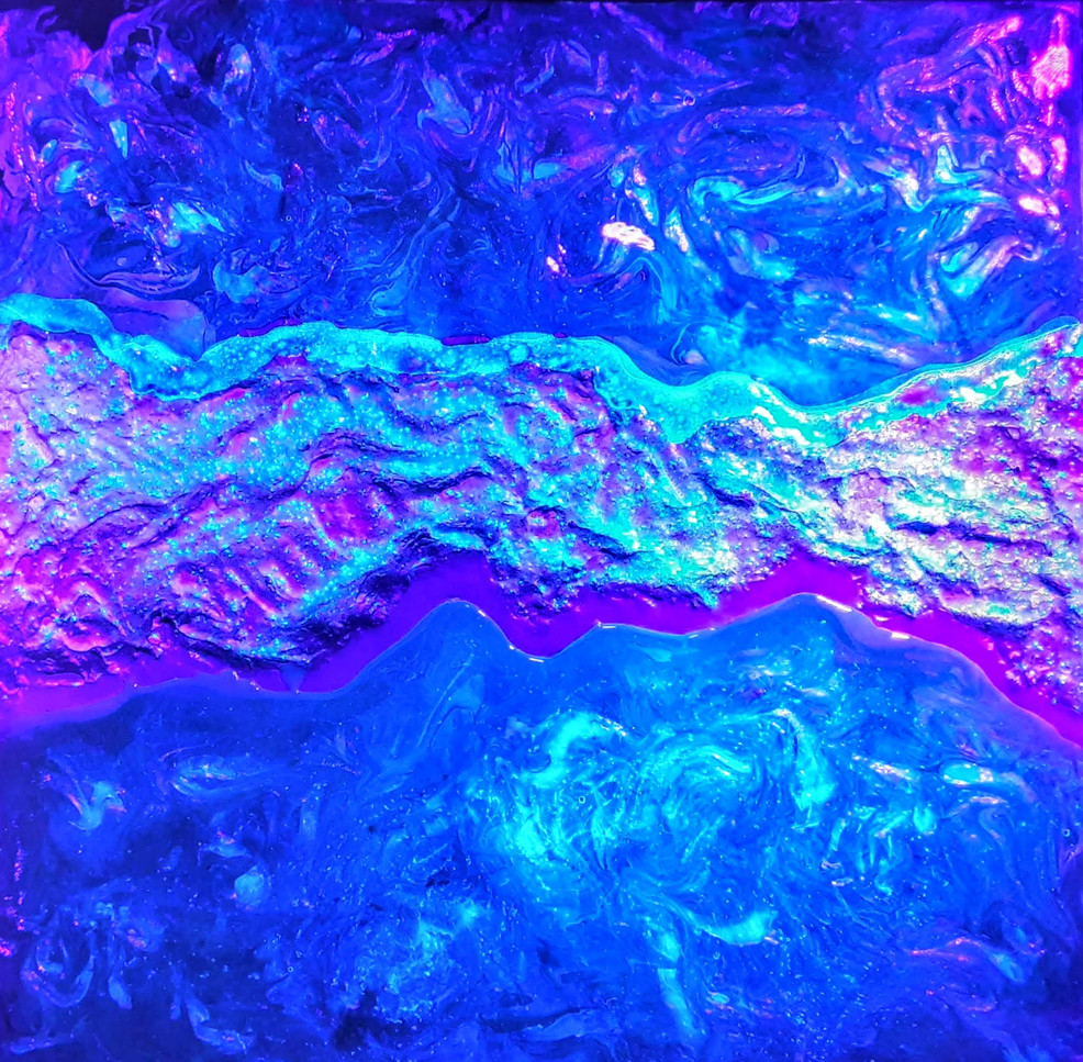 A Scab on the Fabric, blacklight