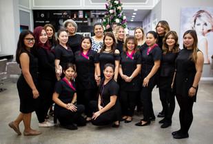 Gloria Beauty Salon advertising photoshoot.
