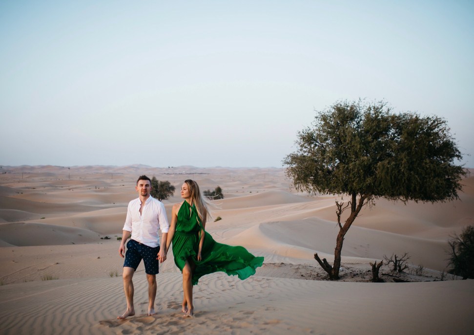 Desert romantics.