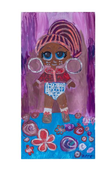 Metal girl, acrylic on canvas, 60×120