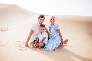 One more beautiful family in the desert.