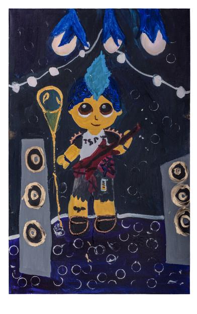 Rock star, acrylic on canvas, 70×110