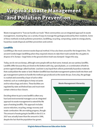 Virginia's Waste Manaement and Pollution Prevention