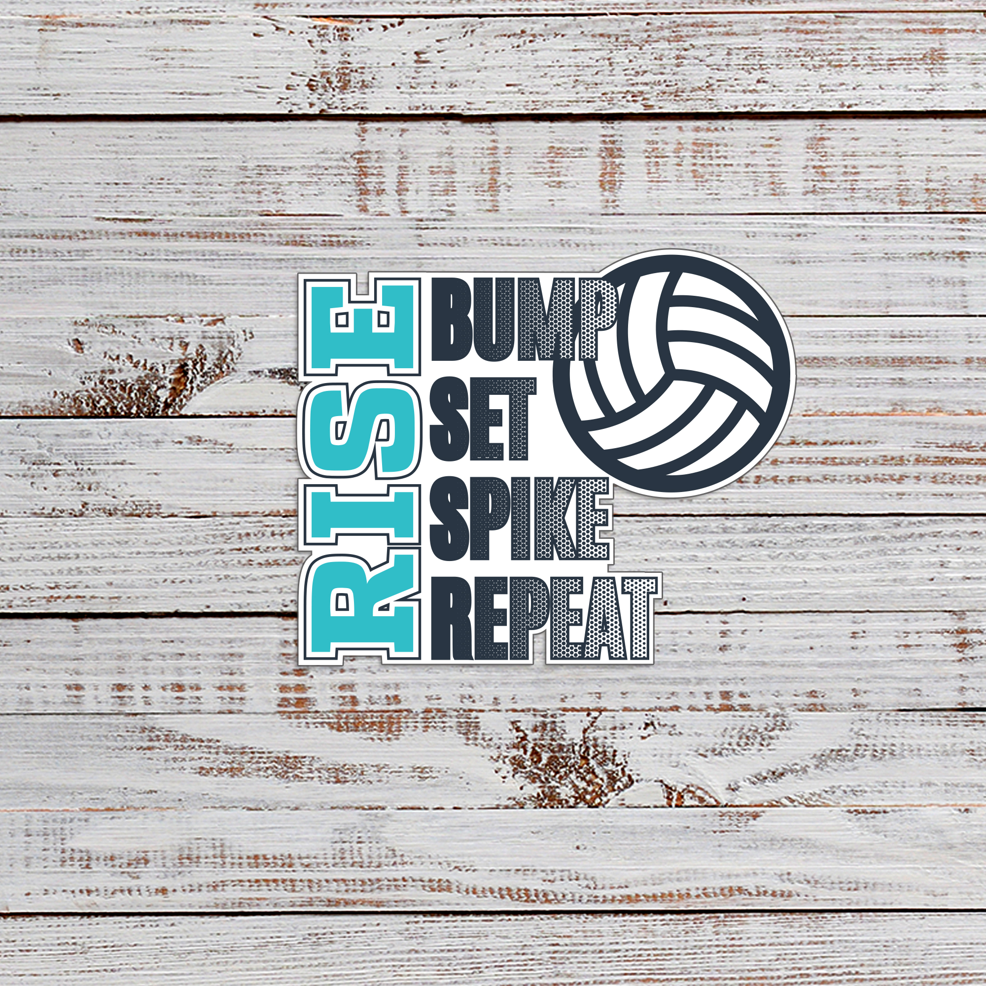 Volleyball Die-Cut Stickers