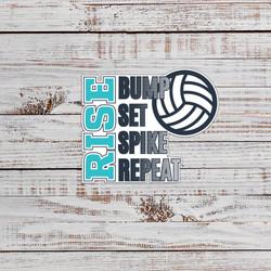 Volleyball Die-Cut Stickers