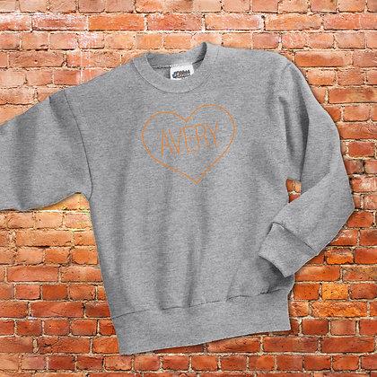 Heart Crew Sweatshirt