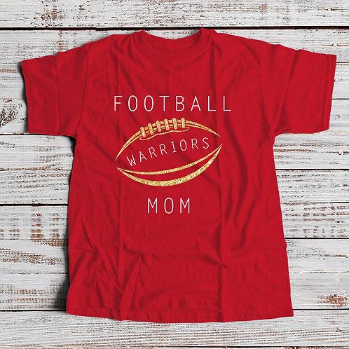Warrior Mom Football Tee - Dark Colors