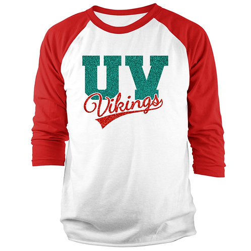 Glitter Vikings 3/4 Raglan Sleeve T-shirt