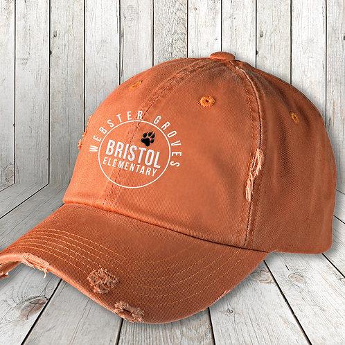Distressed Bristol Bulldgos cap
