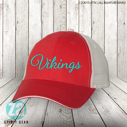 Vikings Two-tone Trucker Style Embroidered Hat