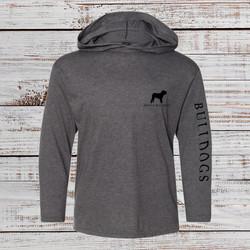 Printed Sleeve Hooded LS