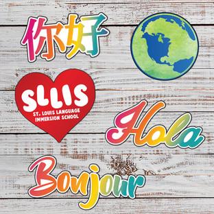 Die-Cut Stickers: $1 each