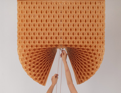 Geri dönüştürülmüş kağıttan ayarlanabilir panjurlar!