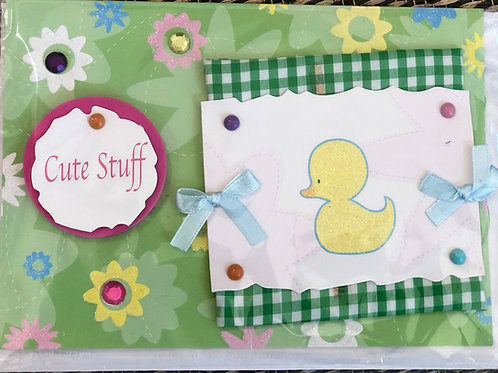 Cute Stuff New Baby Card
