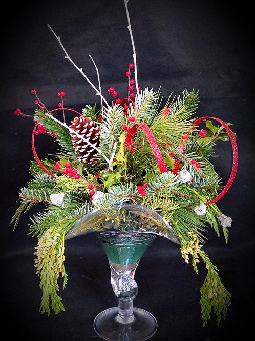 Hand-Blown Glass Holiday Centerpiece