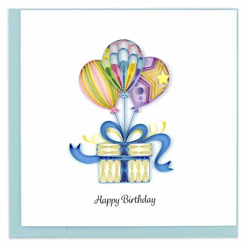 Quilled Balloon Surprise Birthday Card