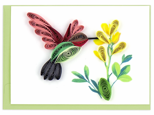 Quilling Enclosure Card - Hummingbird