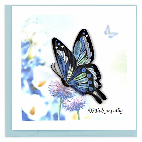 Quilled Sympathy Butterfly Greeting Card