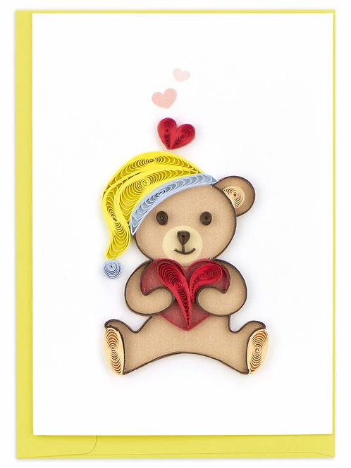 Quilled Teddy Bear Gift Enclosure